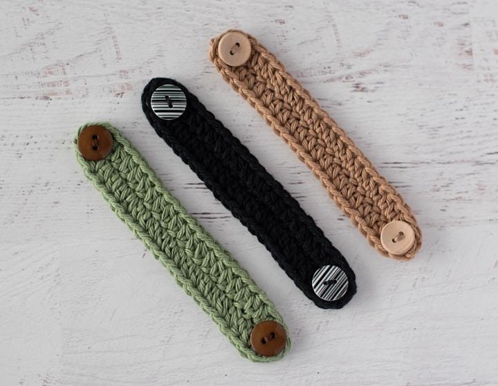 mascarilla sujecciones de crochet