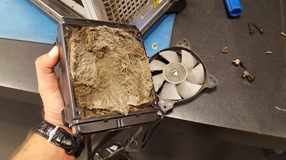 suciedad ventilador ordenador