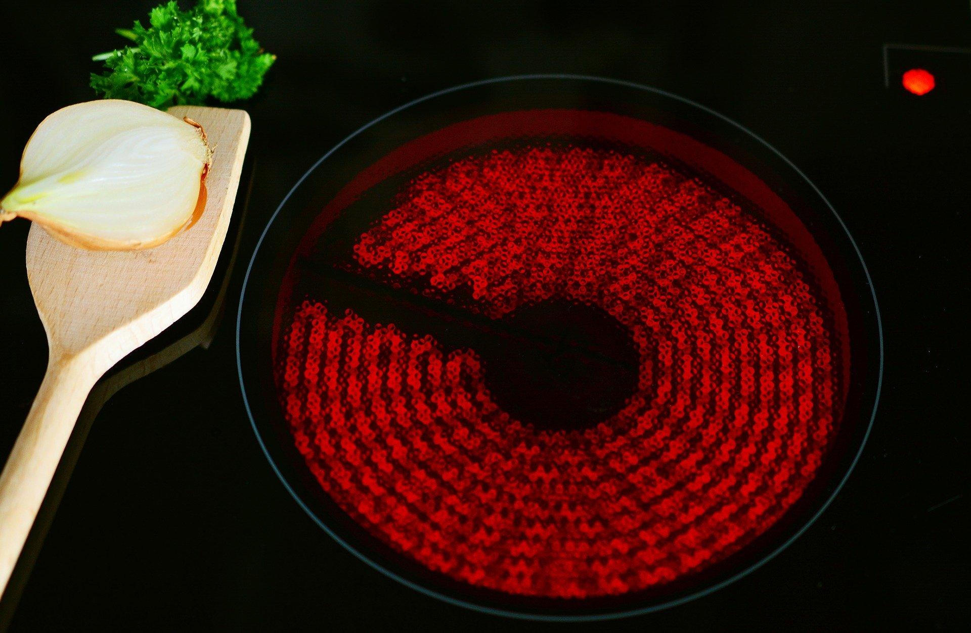 cocina de induccion fuego calor