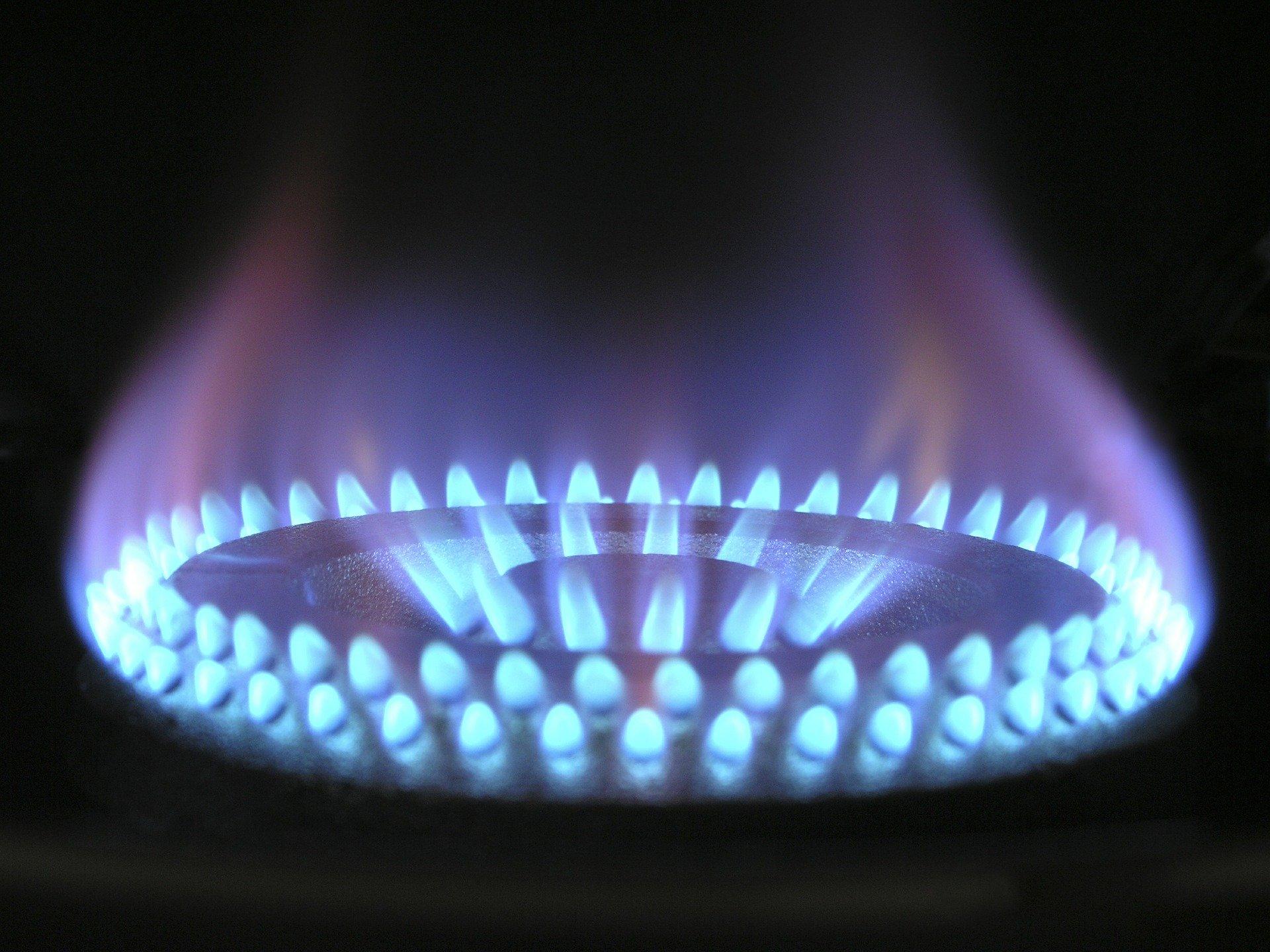 cocina fuego azul gas