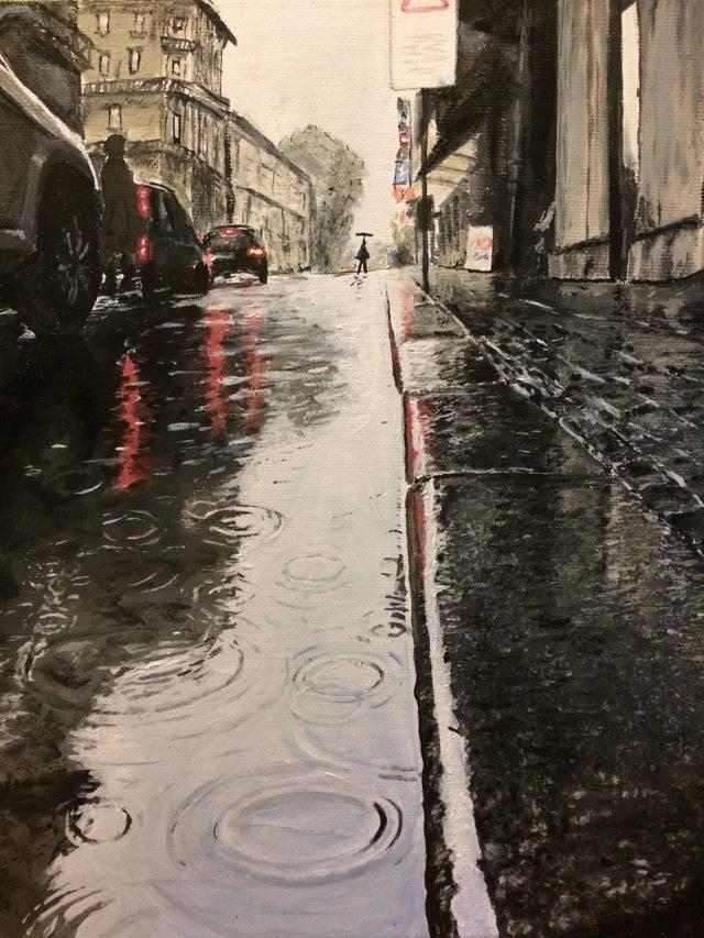 calle luviosa