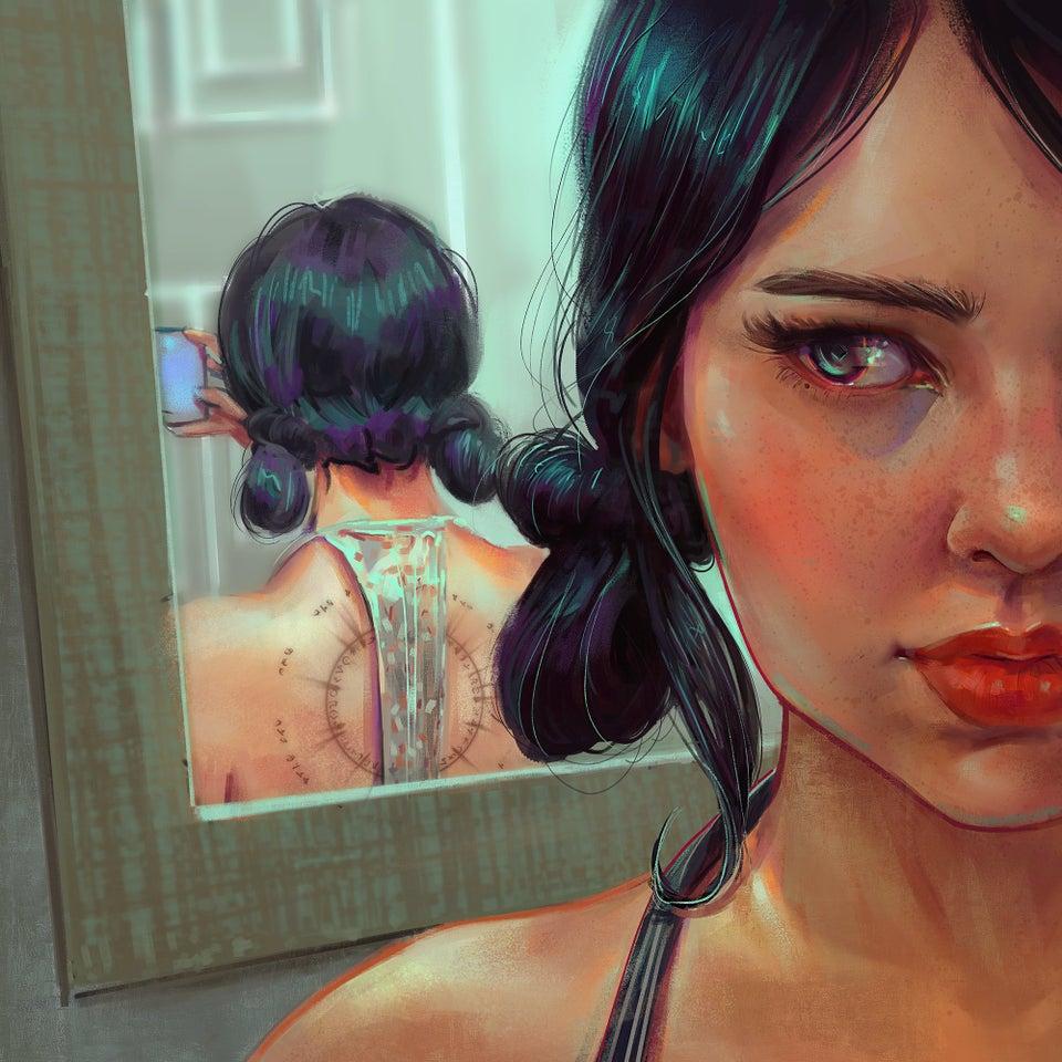 Retrato, me, digital, 2020