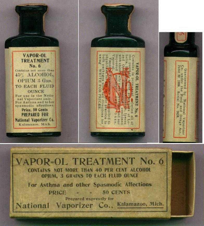 frasco medicina con opio
