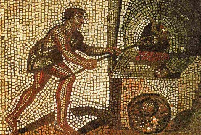 alfarero romano mosaico