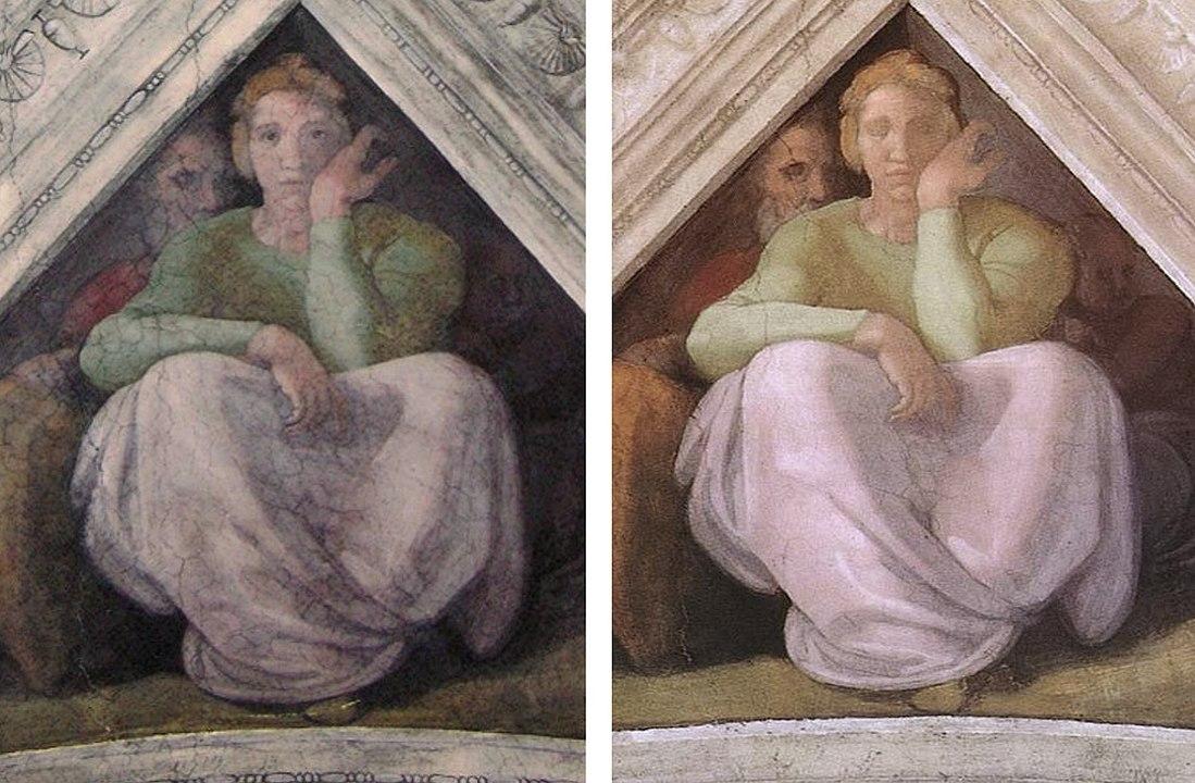 frescos de la capilla sixtina restauraciones