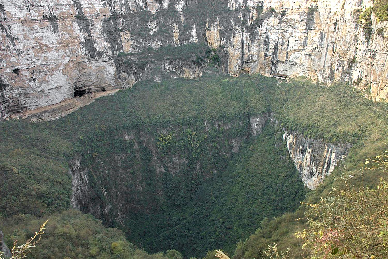 pozo más grande del mundo Xiaozhai Tiankeng