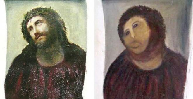 peores restauraciones ecce homo de borja