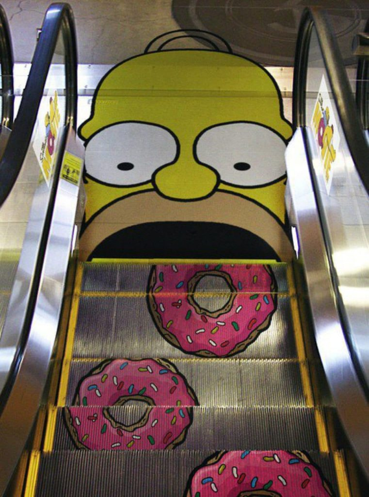 Homer donuts escalera diseño ideas
