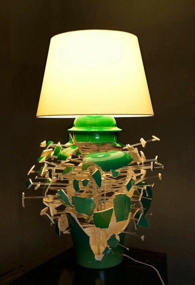 Lámpara rota diseño ideas