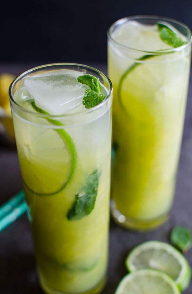 Mojito de piña sin alcohol bebidas caseras saludables