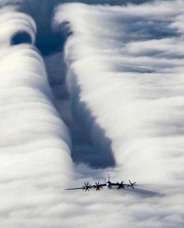atravesando las nubes