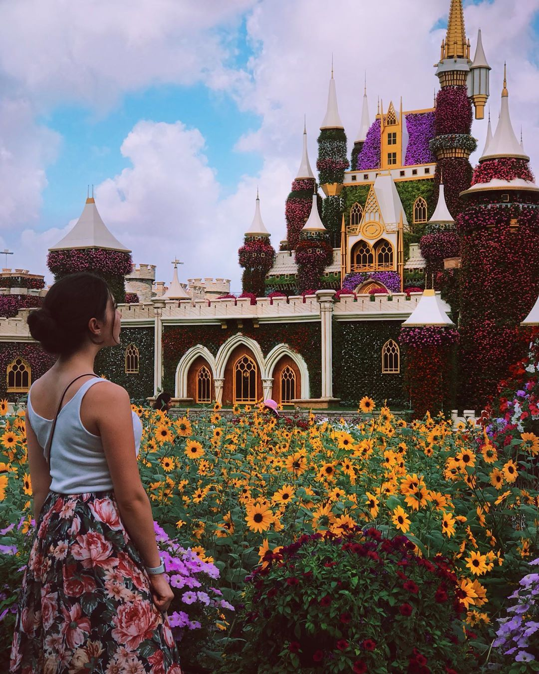 castillo de flores