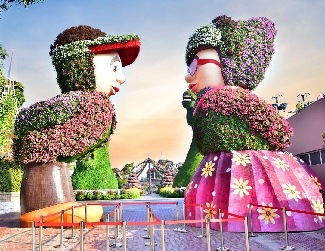 niños de flores