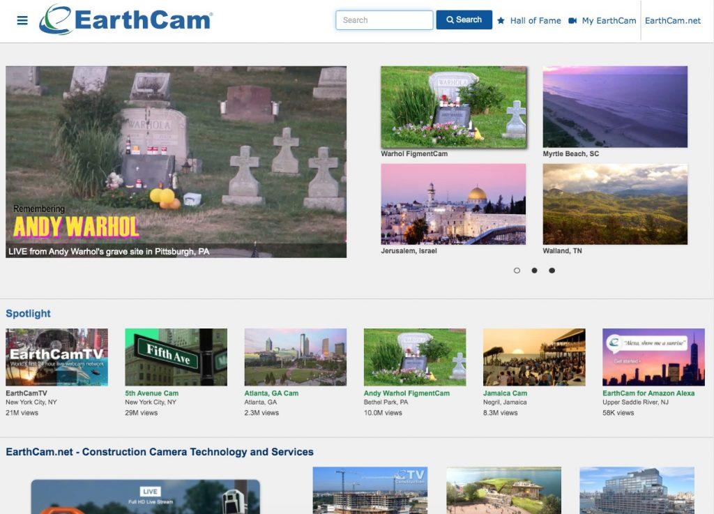 EarthCam sitios interesantes