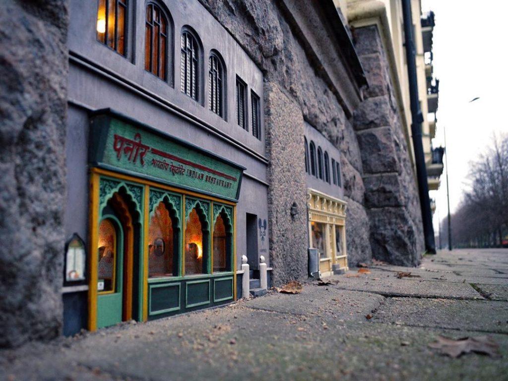 Tienda árabe ratones calles espacios