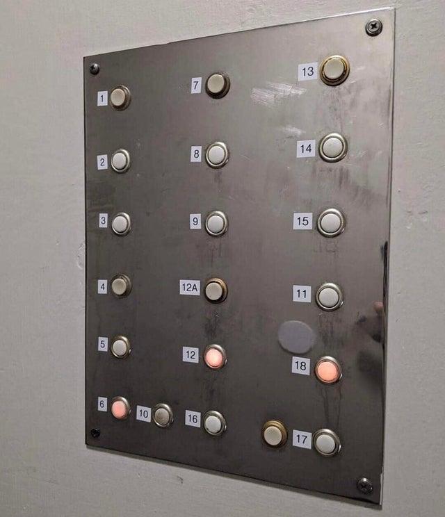botones ascensor