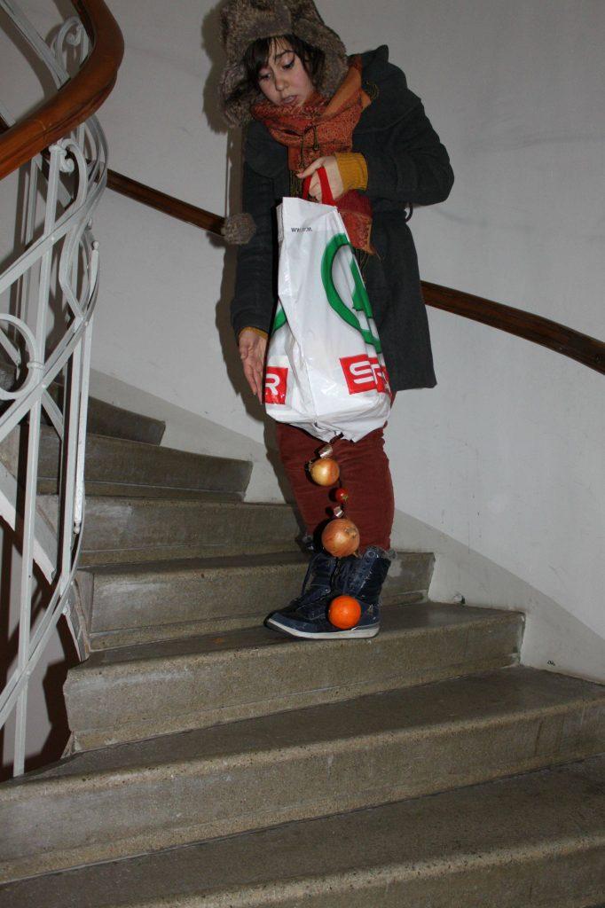 Bolsa rota escaleras
