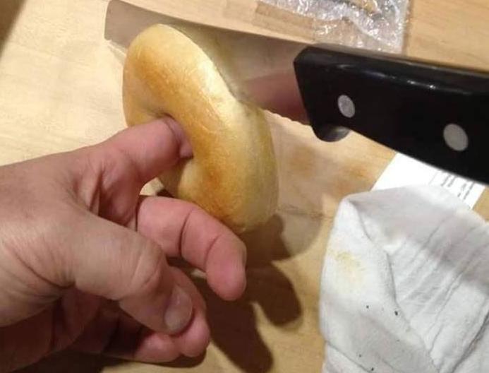 Donut dedo agujero