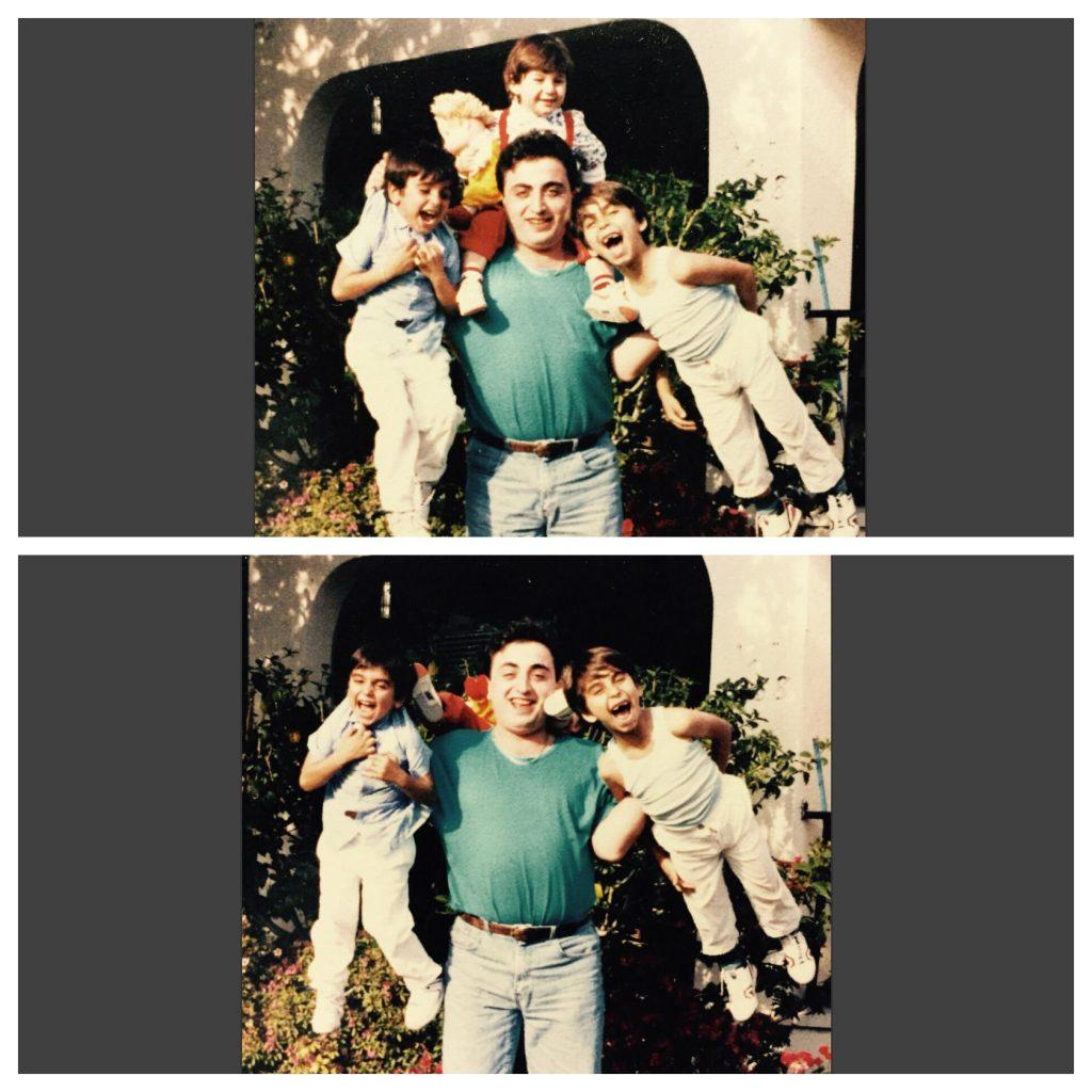 Familia niño caída fotografías mejor momento