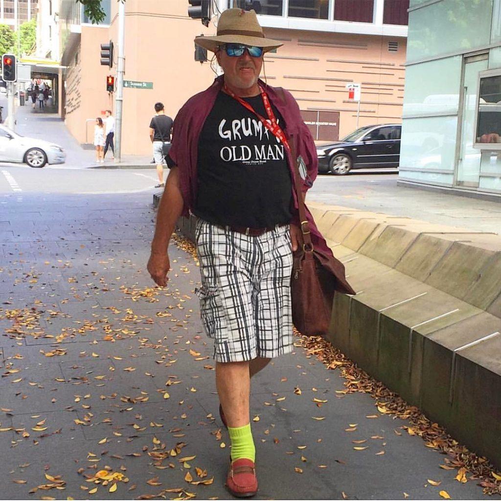 Señor calcetines verdes