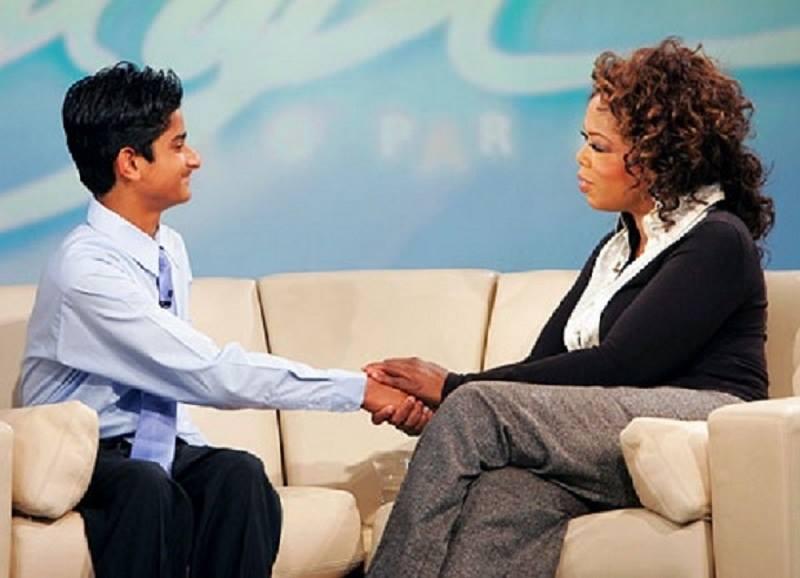 akrit con Oprah Winfrey