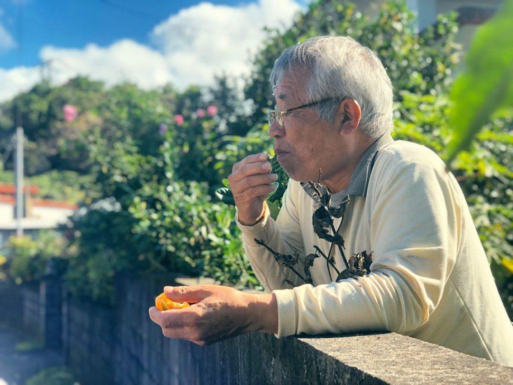 anciano comiendo pueblo japonés longevidad