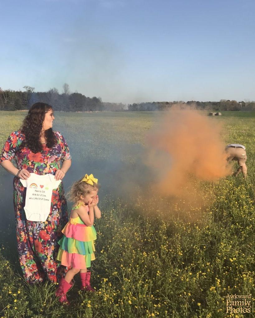 arcoíris humo fotos familiares