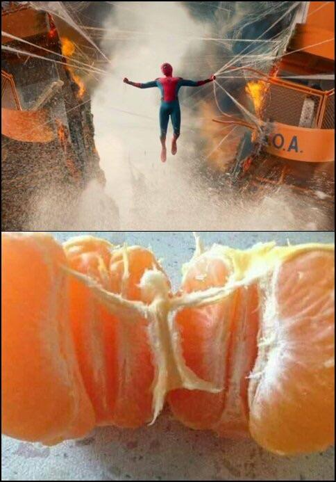 spiderman naranja