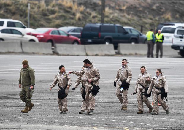 soldados caminando en Colorado