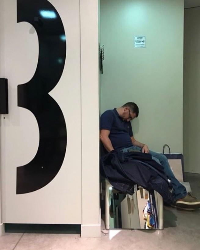dormido en los probadores