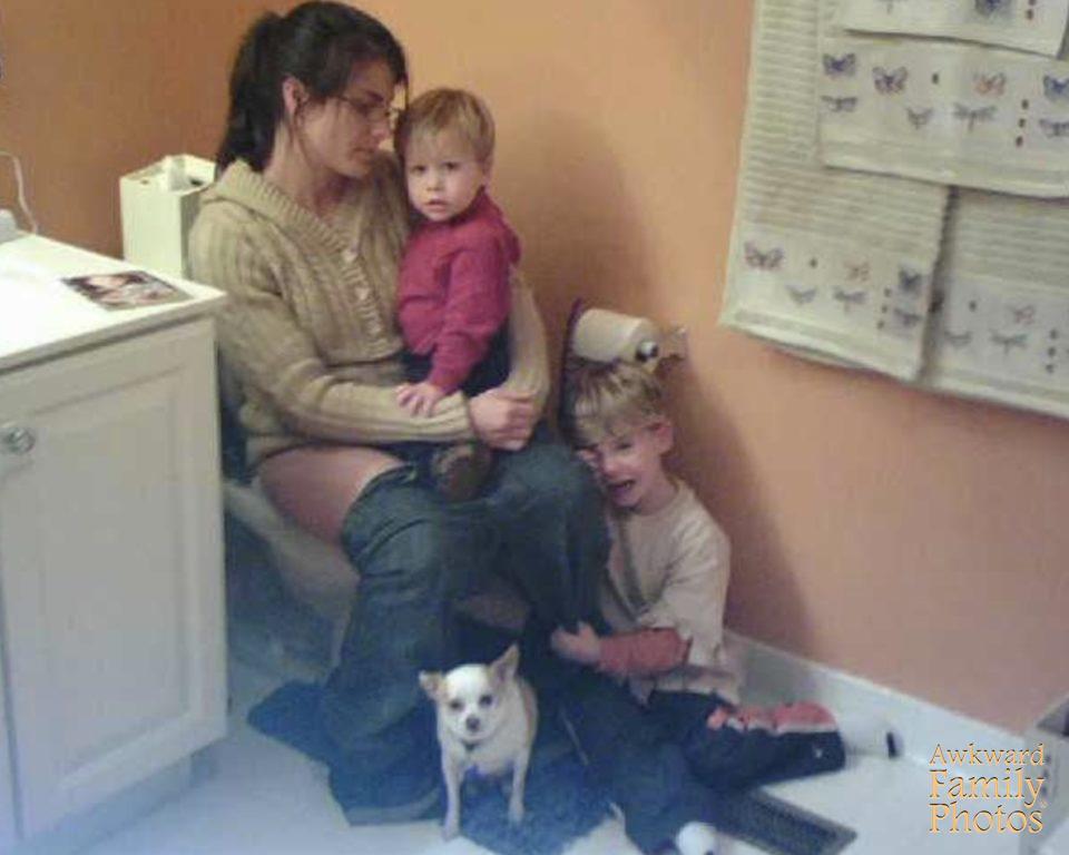 madre hijos baño fotos familiares
