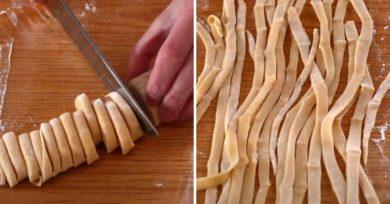 pasta fresca sin máquina