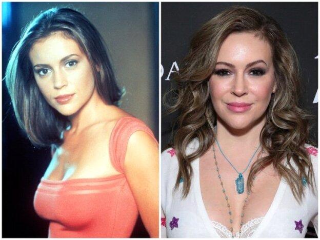 Alyssa Milano antes y después