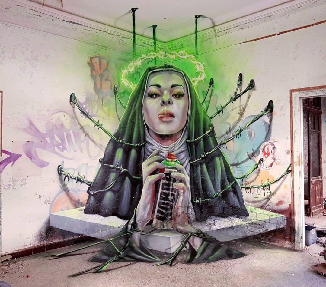 graffiti monja