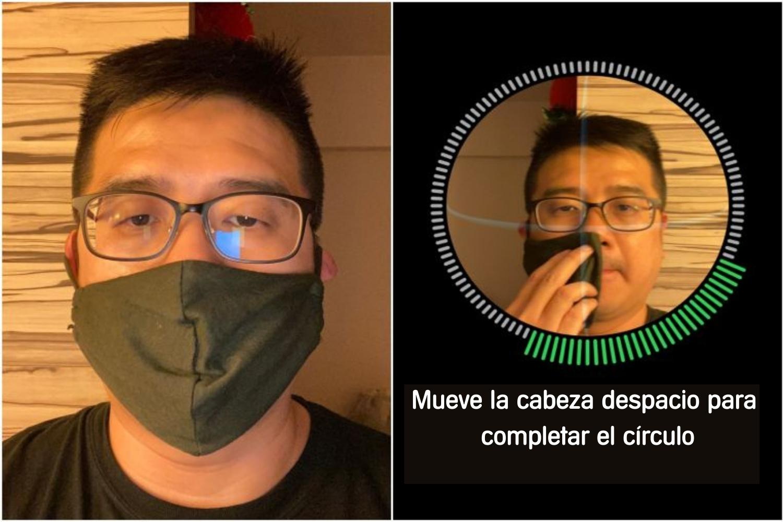 reconocimiento facial con mascarilla