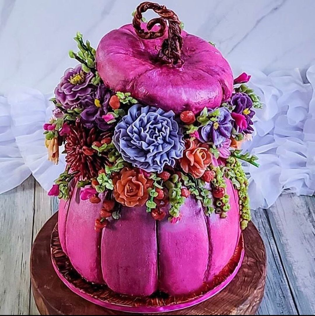 Tarta calabaza rosa