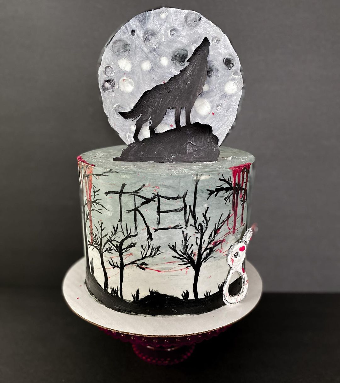 Tarta lobo y luna