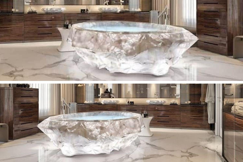 bañera cristal