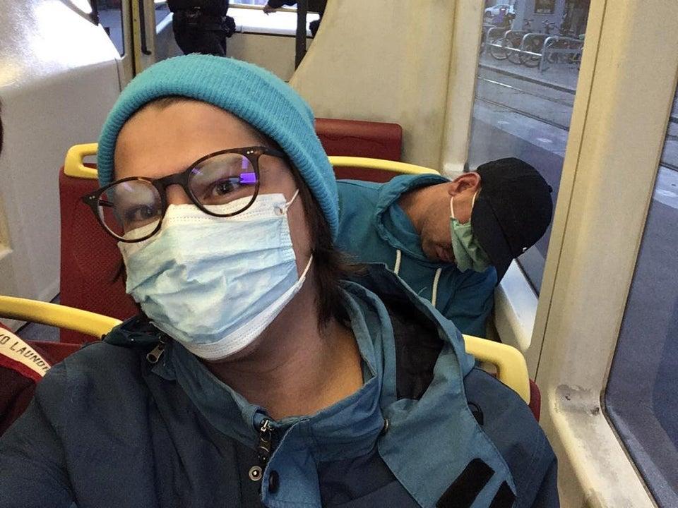 hombre autobus mascara