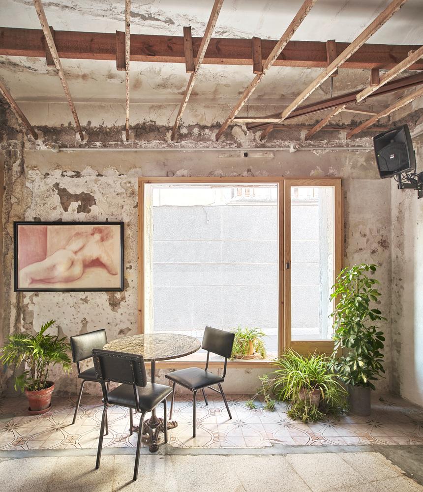 sala de estar renovación antigua