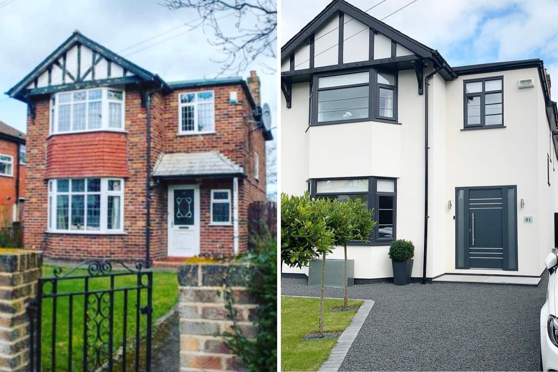 fachada casa antes y después