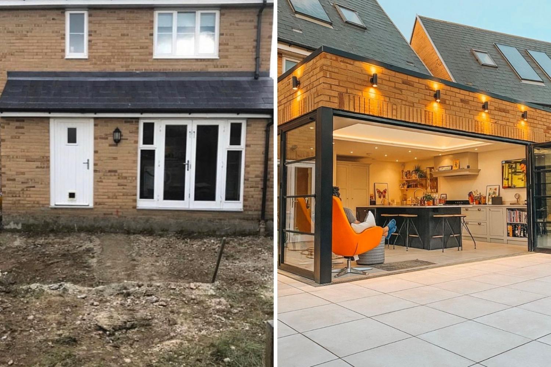 ampliación de la casa reforma antes y después