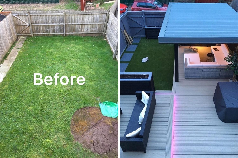 patio antes y después