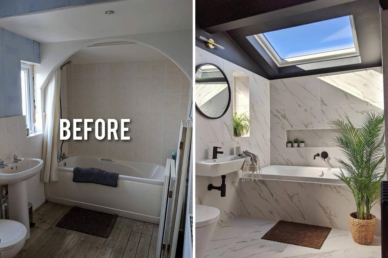 baño reforma antes y después