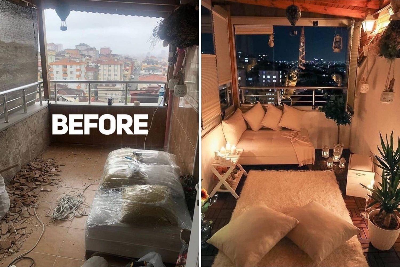 terraza antes y después