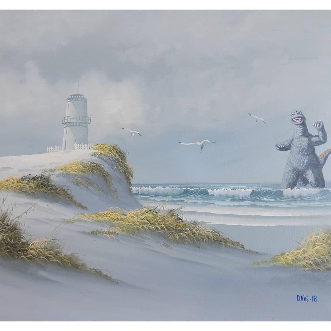 cuadro de Godzilla