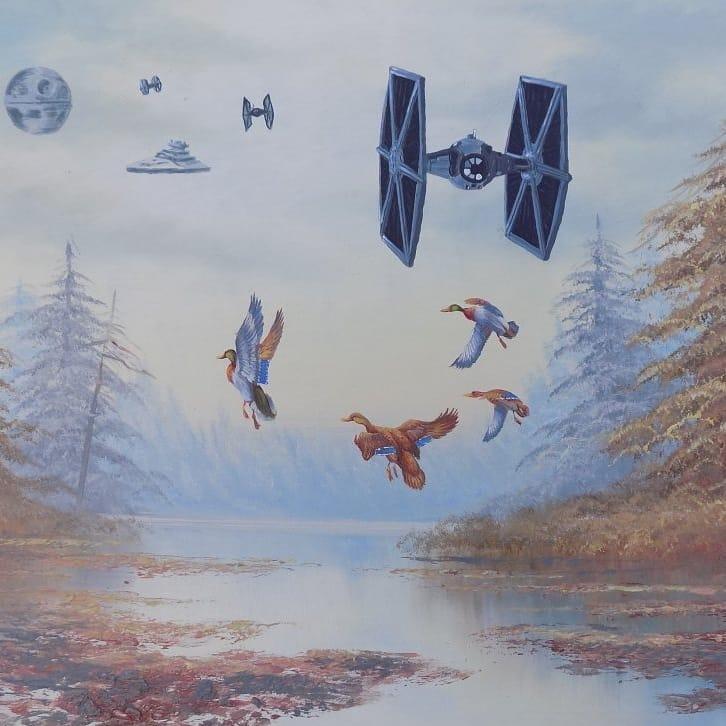 cuadro de caza imperial