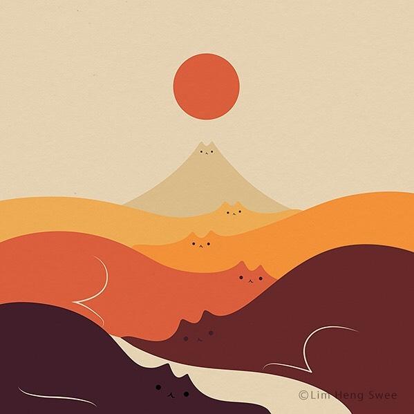 ilustración de horizonte