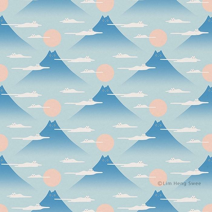 montañas con gatos