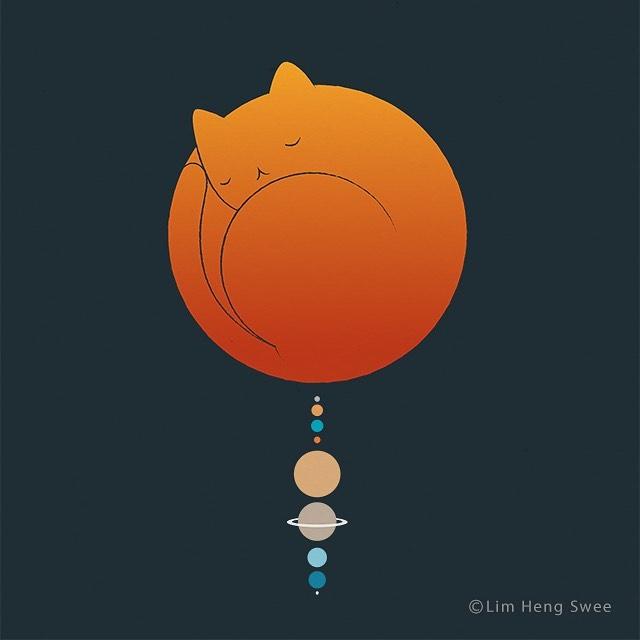 planeta con forma de gato
